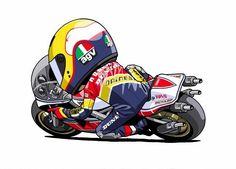 Kenny Roberts by Sin Terauti… Moto Bike, Motorcycle Style, Grand Prix, Yamaha Motorcycles, Speed Bike, Garage Art, Sportbikes, Cycling Art, Bike Art