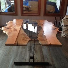 Hey, I found this really awesome Etsy listing at https://www.etsy.com/listing/248880360/live-edge-table-reversed-live-edge