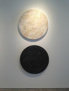 """La Sole and La Luna, 38"""" diameter each"""