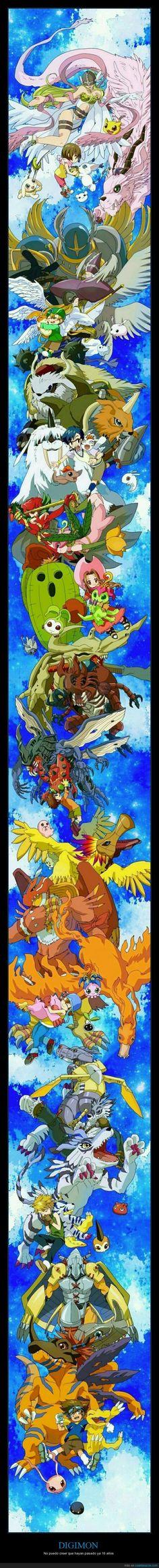 Si Digimon tiene ya 16 años... eso significa que me estoy haciendo muy mayor - No puedo creer que hayan pasado ya 16 años