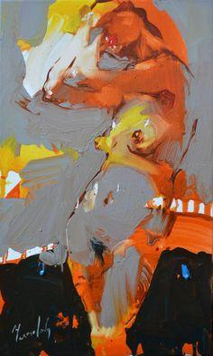 "Saatchi Art is pleased to offer the painting, ""Brushing her hair by Iryna . - Saatchi Art is pleased to offer the painting, ""Brushing her hair by Iryna Yermolova, avai - Art Inspo, Inspiration Art, Figure Painting, Figure Drawing, Painting & Drawing, Painting Canvas, Erotic Art, Figurative Art, Love Art"