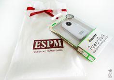 Power Bank personalizado para Instituição de Ensino ESPM