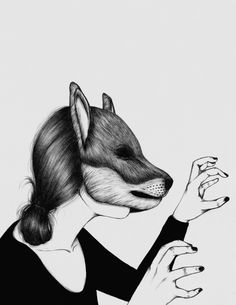 Peculiar IV Art Print by the White Deer Art And Illustration, Animal Illustrations, Fashion Illustrations, Jolie Phrase, You Draw, Peonies, Deer, Creatures, Art Prints