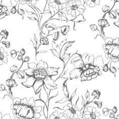 Sketch Flowers (swedishfabric)