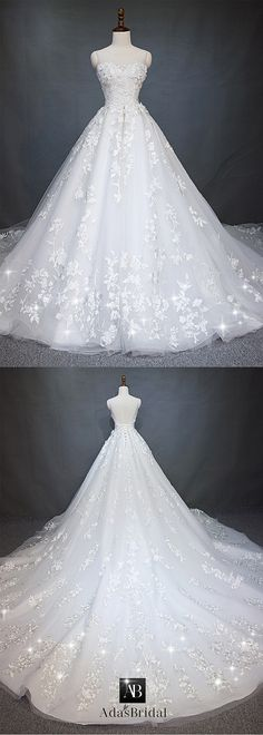 Stunning Tulle Jewel Neckline A-line Wedding Dress With Beaded Embroidery & Handmade Flowers