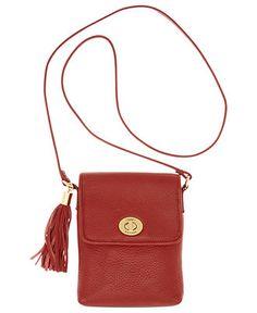 Tommy Hilfiger Handbag, Turnlock with Tassel Crossbody - Handbags & Accessories - Macy's