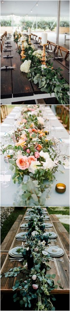 Wedding Decorations»Wedding Trend—23 Unique Floral    Wedding Garland Table Runner Ideas