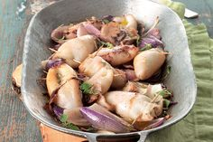 Calamari, Sicilian Recipes, American Food, Tzatziki, Potato Salad, Seafood, Potatoes, Favorite Recipes, Meals