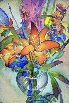 Floral Watercolor by Carol Carter, 1999