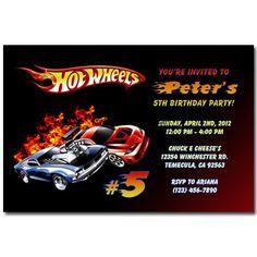 Hot Wheels Invitation Printable Race Car By Partyprintouts On Etsy - Hot wheels birthday invitation how to make