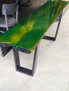 Www.ccoating.nl   Elm tree trunk with Green Corn color Coating
