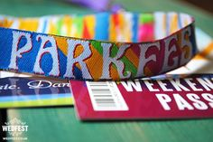 We love these festival wristbands for your guests available from wedfest.co