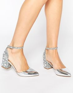 ASOS SHOOTING STAR Heels - Silver. Went to buy these online & they'd just gone out of stock. Gutted.