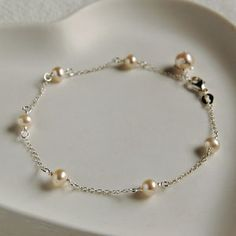 Delicate Sterling Silver And Pearl Bracelet - what's new