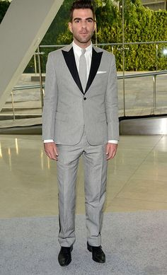 This guy has so much damn style, or a great stylist.  Either way = win.  ZacharyQuinto at the 2013 CFDA Fashion Awards.