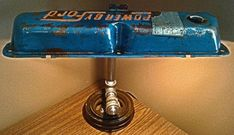 [DIY Plans] Vintage Ford Mustang Valve Cover Lamp - Second Lamp I Made : somethingimade Lamp Makeover, Steampunk Lamp, Industrial, Diy Car, Vintage Lamps, Cool Items, Desk Lamp, Table Lamps, Ideas