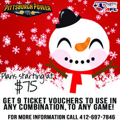 Cross all the sports fans off your Holiday gift giving list this season with a 2014 Power Flex Plan. Get 9 ticket vouchers that are good for to use in any combination and to any game!   Call 412-697-7846 today!