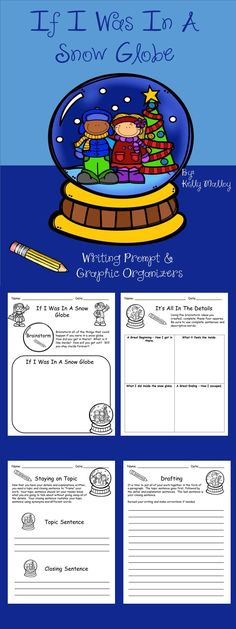 If I Was In A Snow Globe Writing Prompt - Freebie