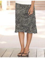 Black-and-white Floral Skirt