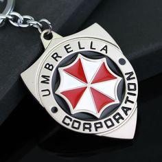 Resident Evil Umbrella Metal Keychain