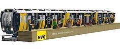 Die Berliner U-Bahn als Lego-Bausatz _____________________________ Bildgestalter http://www.bildgestalter.net