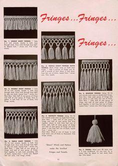 Vintage 1950's Crochet Edgings