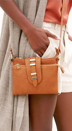 cognac mini crossbody