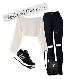"""""""Weekend Getaway"""" by diallor ❤ liked on Polyvore featuring CÉLINE, Louis Vuitton and adidas"""