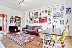 Beautiful interior, apartment for sale in central Stockholm right now.