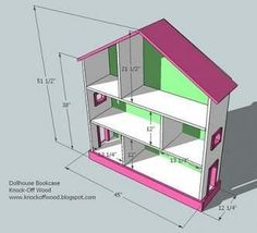 Dollhouse Bookcase DIY Tutorial - change the dimensions a bit for American Girl Doll ....Cute idea for a Christmas gift!