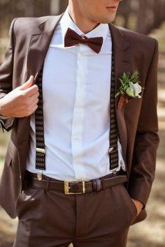 Коричневый костюм жениха