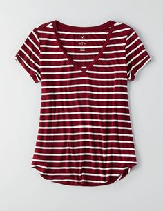AEO Pocket T-Shirt ($15) liked on Polyvore featuring tops ...