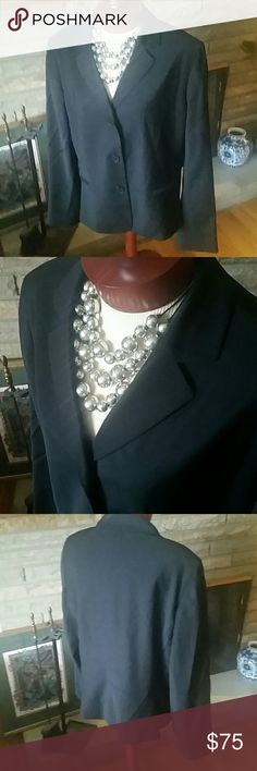 Talbots Woman Size 18 Beautiful Black Jacket Beautiful black jacket by Talbots. 3 button front with 2 front stitched close pockets. 4 buttons at cuffs. Wool, Nylon and Spandex blend, lined. Gorgeous jacket! New with out tags. Talbots Jackets & Coats Blazers