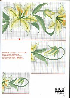 Schematic cross stitch Lily 2