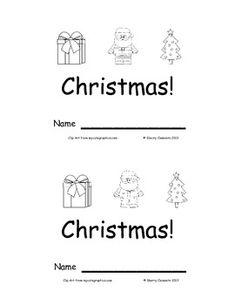 Emergent Reader: Christmas: Sight Words (I, see, a) 9 pages - Many more emergent readers available - $