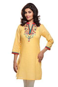 Rangmanch Women's Indian Mix N Match Kurta X-Small Yellow