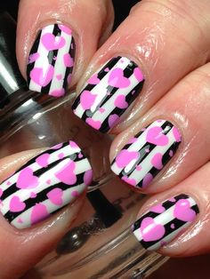 Canadian Nail Fanatic: Digit-al Dozen Does Patterns on Patterns; Day 1