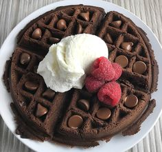 Milk Chocolate Pound Cake Waffles are the best dessert waffles you'll ever have! Rich, dense, and oh so chocolatey, these Milk Chocolate Pound Cake Waffles may just be your new go-to dessert waffle.
