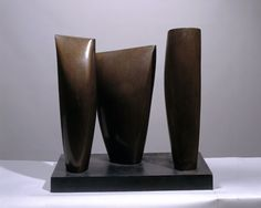 Barbara Hepworth Three Forms, Bronze, 1970