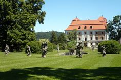 Valeč, Czech Republic, Chateaux and baroque sculptures of Matyas Bernard Braun