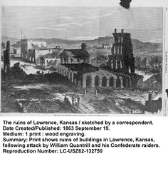 On this day, August 14, 1862 - A temporary Union jail in Kansas City collapsed and killed some female relatives of Quantrill's Raiders. Pro-Confederate William C. Quantrill exacted revenge on Lawrence, Kansas, a Union stronghold, August 21, killing 150 residents and burning much of the town. http://www.barnesandnoble.com/s/-Georgiann-baldino