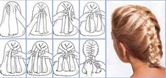 How To Make French Braids Ideas how to make french braid hairstyle tutorials braided How To Make French Braids. Here is How To Make French Braids Ideas for you. How To Make French Braids french braid ponytail. How To Make French Braids. Lazy Girl Hairstyles, French Braid Hairstyles, Braided Hairstyles Tutorials, Diy Hairstyles, French Braids, Braid Tutorials, Hairstyles Videos, Free Tutorials, Quick Braids