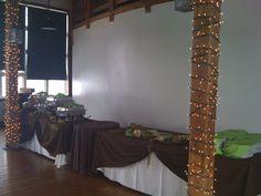 Natural Theme Buffet Set up