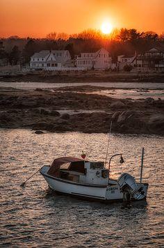 Sunset at Cape Porpoise, Maine