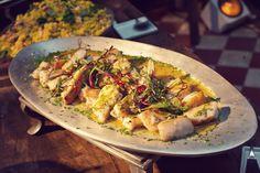 Filet de Namorado grelhado com redução de Laranja e Gengibre - Grilled fresh fish with ginger and orange sauce