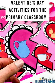 Engage your kindergarten, 1st & 2nd grade students this February with fun Valentine's Day activities. This article is filled with engaging learning ideas that are perfect for the elementary classroom. Activities for reading, writing, word work and more. Fill your centers, morning work tubs and lesson plans with engaging Valentine's Day activities. Editable Teacher Valentine that you can send to your students too. #kindergarten #firstgrade #February #ValentinesDay Primary Classroom, Kindergarten Classroom, Classroom Activities, Hidden Picture Puzzles, Word Work Centers, Valentine Picture, Expository Writing, Reading Comprehension Skills, Teacher Valentine