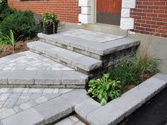 Landscaping Design, Front Yard Landscaping, Front Entry, Front Porch, Front Steps, Front Entrances, Pathways, Facade, Pathway Ideas