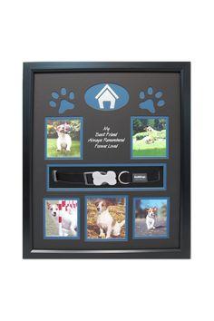 16 x 20 Pet Frame display with collar Frame Display, Dog Memorial, Forever Love, Pet Memorials, Losing A Pet, Shadow Box, Dog Love, Fur Babies, Your Pet