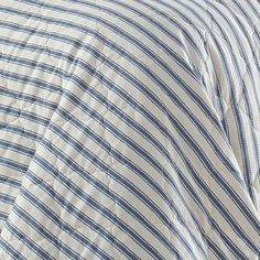 Willow Way Ticking Stripe Quilt Set - Stone Cottage : Target Navy Quilt, Striped Quilt, Twin Quilt, Striped Bedding, Blue Bedding, Shabby Chic Material, Ticking Stripe, Queen Quilt, Quilt Sets