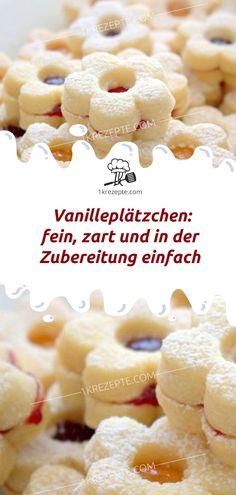 Zutaten 1 kgMehl 500 gButter oder Margarine 200 mlNaturjoghurt 1 TassePuderzucker 3 Pck.Vanillezucker Konfitüre Puderzucker zum Bestäuben Zubereitung Mehl durch ein Sieb in eine Schüssel sieben und mit Butter/Margarine, Naturjoghurt, Vanille- und Puderzucker mit dem Handrührgerät zu einem relativ zähen Teig verarbeiten. Diesen dann auf bemehlter Arbeitsfläche ca. 5 mm dick ausrollen. Blümchen oder andere Formen ausstechen und auf ein mit Backpapier ausgelegtes Backblech legen. Im…